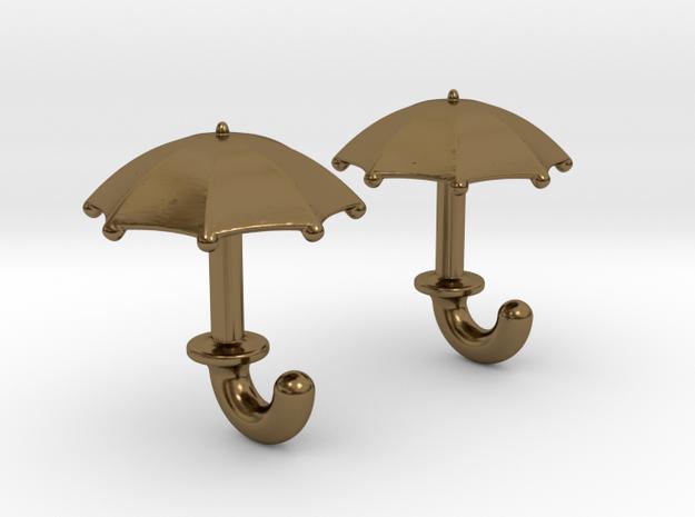 Umbrella Cufflinks 3d printed