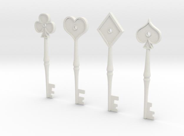 RPD keys 3d printed