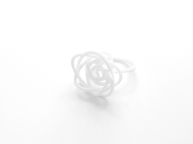 Sprouted Spiral Ring (Size 8) 3d printed 18k Gold Plated