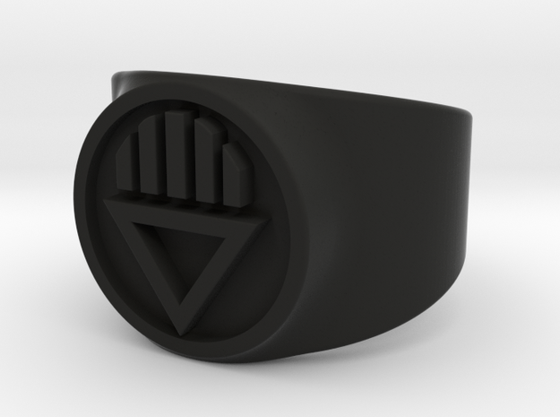 Black Death GL Ring Sz 8 3d printed
