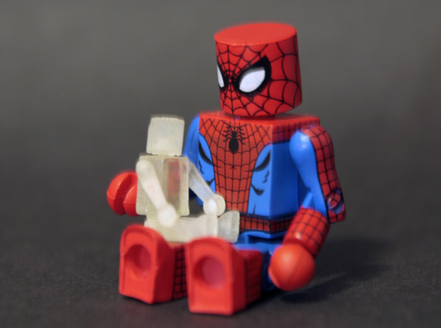 Minimates Child 3d printed Shown with standard figure for scale
