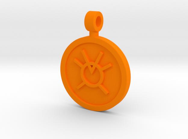 Orange Avarice Pendant in Orange Strong & Flexible Polished