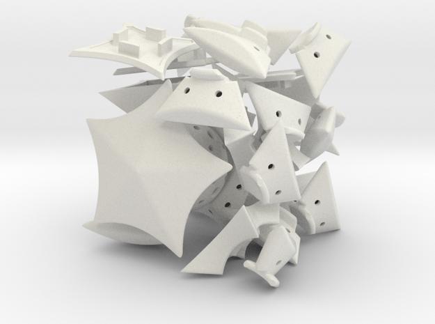 Penta Prism in White Natural Versatile Plastic