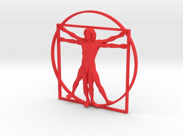 Vitruvian Man Flat 3d printed