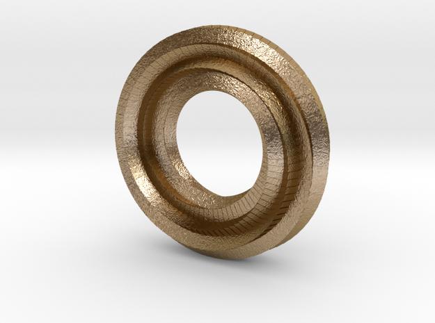 Mini (9/3,1) Mobius Loop in Polished Gold Steel