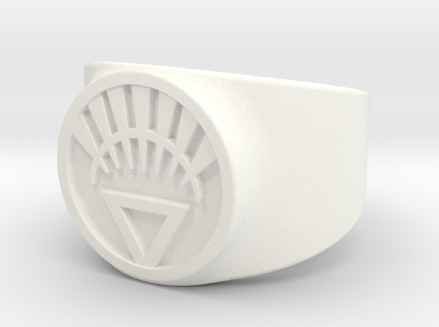 White Life Ver 2 GL Ring Sz 9 3d printed