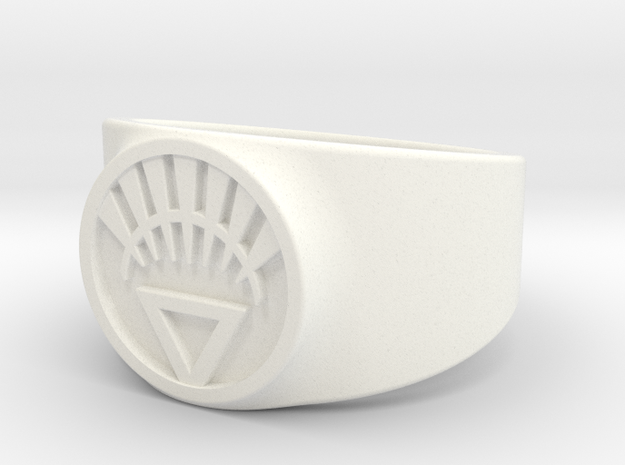 White Life Ver 2 GL Ring Sz 14 3d printed