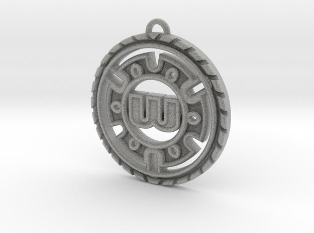 Stylish Personalized Initial Pendant in Metallic Plastic