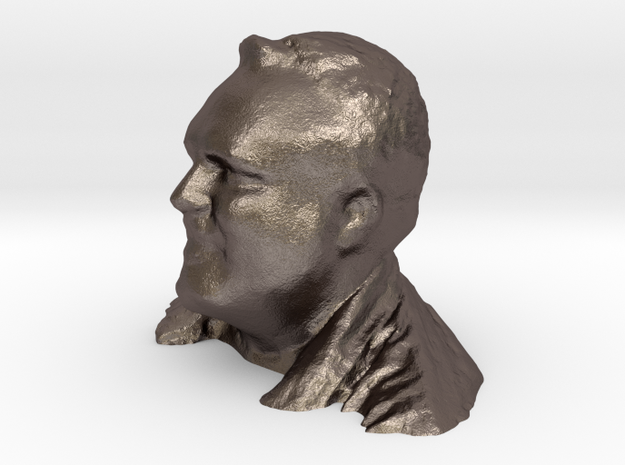 Michael's Head in Polished Bronzed Silver Steel