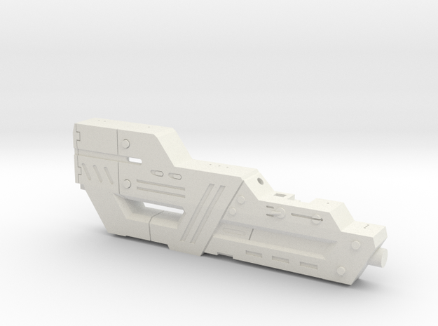 Carnifex Hand Cannon - Bottom Section in White Natural Versatile Plastic