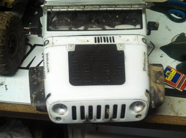 Jeep Hood louvers in Black Natural Versatile Plastic