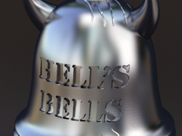 Hell's Bells Pendant 3d printed