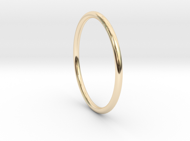 Round One Ring - Sz. 7 in 14K Yellow Gold