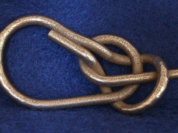 Bowline Knot in Polished Bronzed Silver Steel