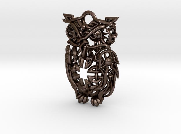 Celtic Owl Pennant 40mm
