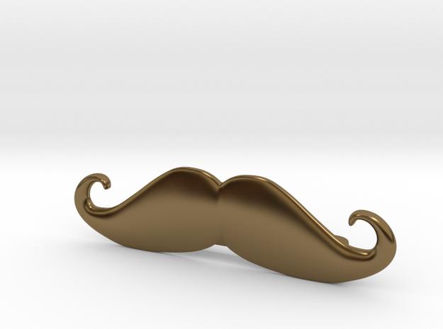"""Italian"" Moustache Tie Bar (Metals) 3d printed"