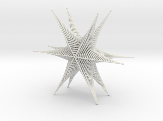 Star Straight Line Curves Stitching Lite in White Natural Versatile Plastic