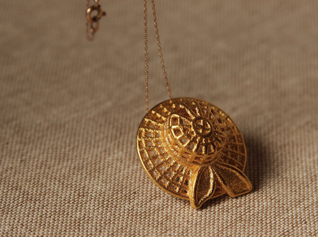 """""""Summer time"""" pendant in 14k Gold Plated Brass"""
