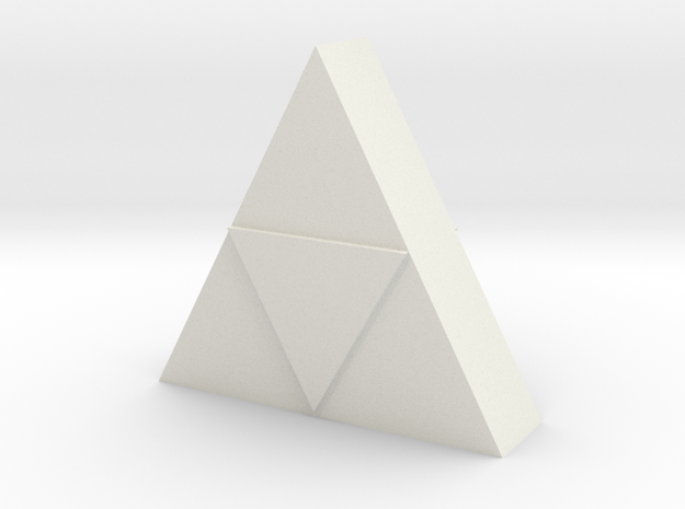 Triforce Model  in White Natural Versatile Plastic