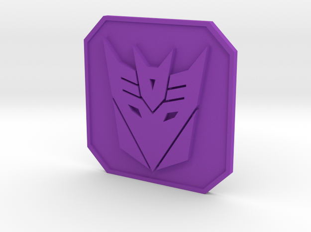 Decepticon badge 3d printed