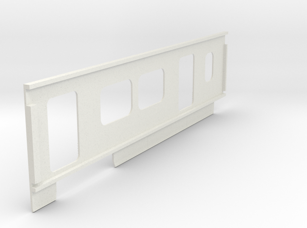 2550 Right Side Panel in White Natural Versatile Plastic