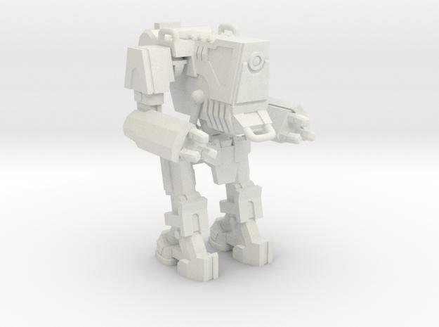 1/87 Scale Wofenstain Boss Trooper Robot in White Natural Versatile Plastic