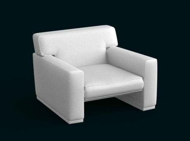 1:39 Scale Model - ArmChair 05 in White Natural Versatile Plastic