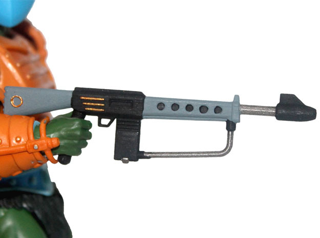 MOTUC Tech-Zeyra Mk. 1 Guard Rifle in White Processed Versatile Plastic