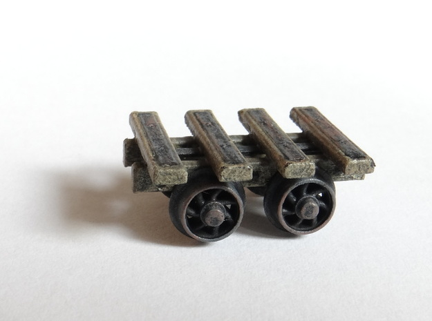 4 Bar Narrow Gauge Slab Wagon (x3) in Frosted Ultra Detail