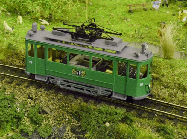 BVB Be 2/2 116 (H0m/H0e) in Smooth Fine Detail Plastic