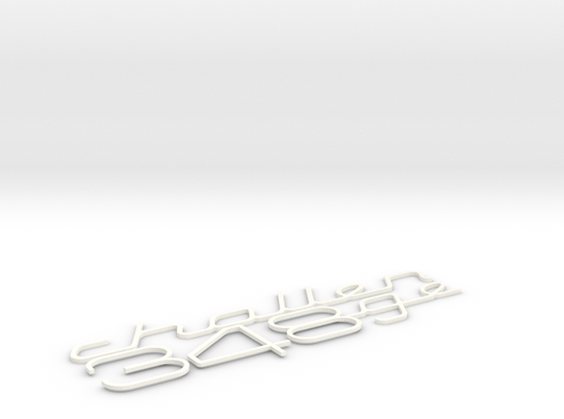 348 CHALLENGE BADGE INSERTS in White Strong & Flexible Polished