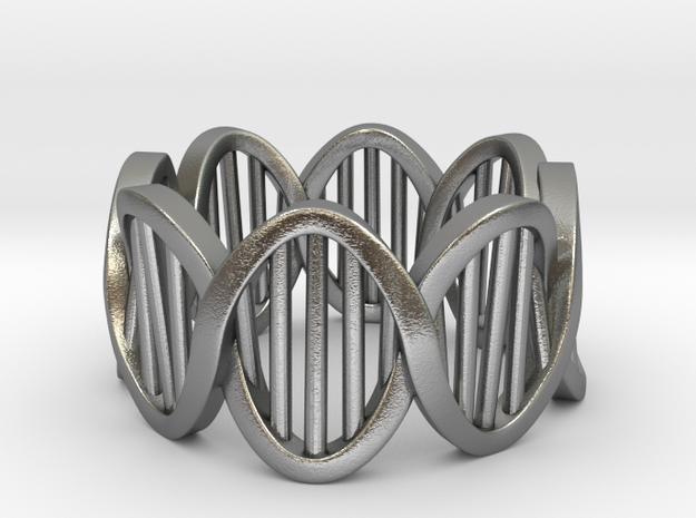 DNA Ring (Size 4) in Natural Silver