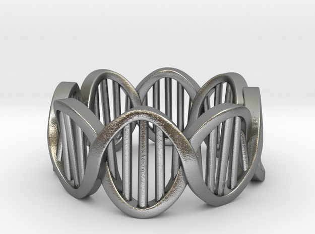 DNA Ring (Size 7) in Natural Silver