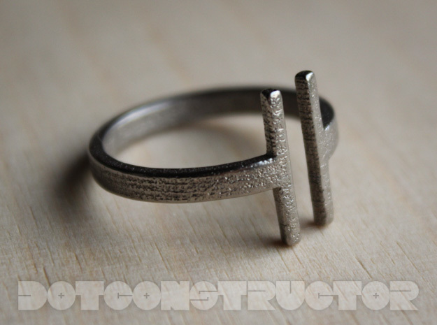 Bar Ring - Size 11.5 in Polished Nickel Steel