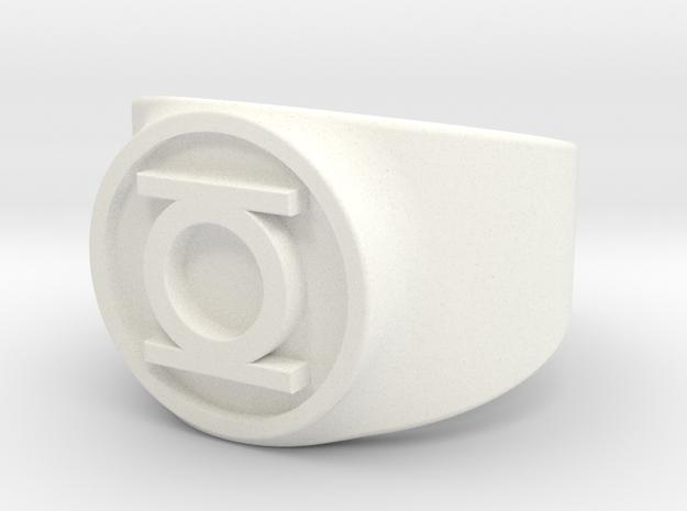 Original Hal GL Ring Sz 9 in White Processed Versatile Plastic