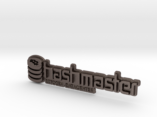 HashMasterBadge in Polished Bronzed Silver Steel