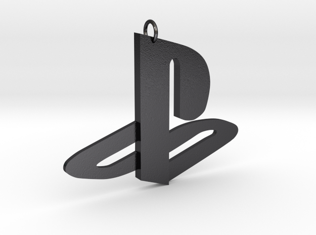 Playstation Logo Pendant in Polished and Bronzed Black Steel