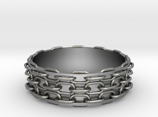 Chain Bangle in Natural Silver