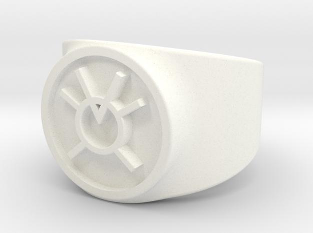 Orange Avarice GL Ring Sz 8 in White Processed Versatile Plastic