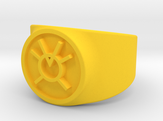 Orange Avarice GL Ring Sz 10 3d printed