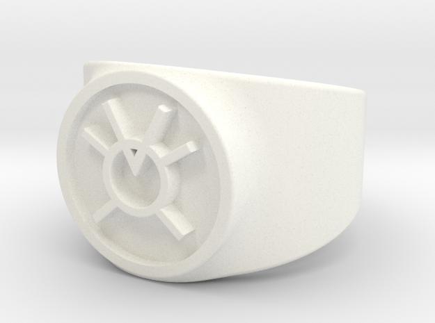 Orange Avarice GL Ring Sz 9 in White Processed Versatile Plastic