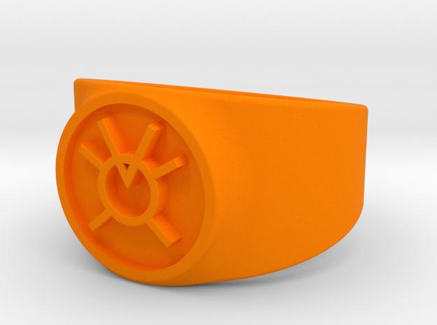Orange Avarice GL Ring Sz 13 in Orange Processed Versatile Plastic