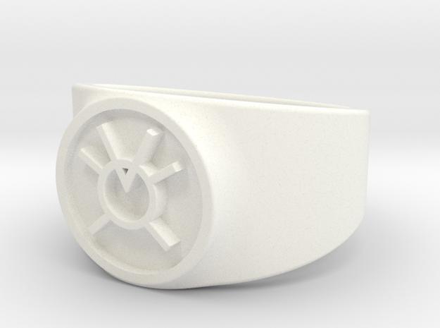 Orange Avarice GL Ring Sz 14 in White Processed Versatile Plastic