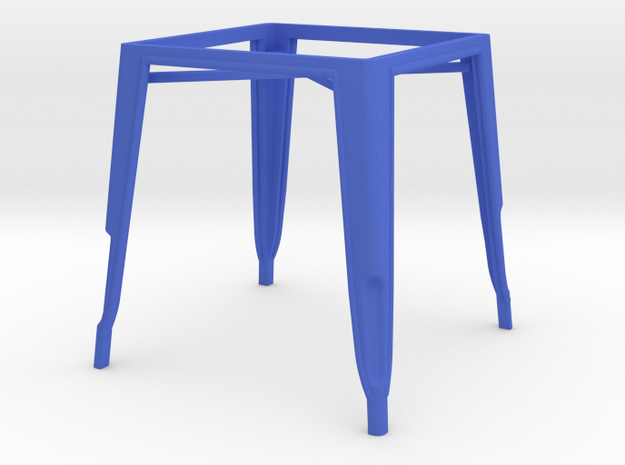 1:12 Pauchard Dining Table Frame in Blue Processed Versatile Plastic