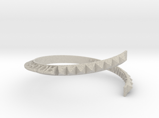Made-with-code-bracelet in Sandstone