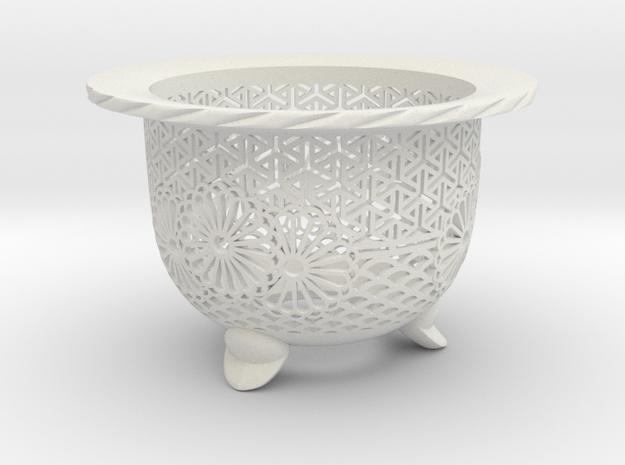 "Neo Pot - Model 3 - Size 3.0 (2.8"" ID) in White Natural Versatile Plastic"