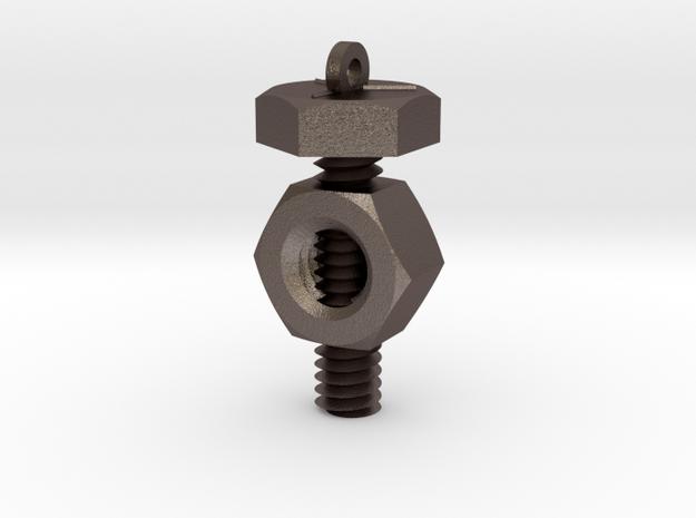 Nut 'N' Bolt Pendant 3d printed