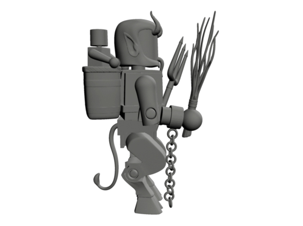 Goat Legs for Minimates 3d printed Shown with all Krampus accessories