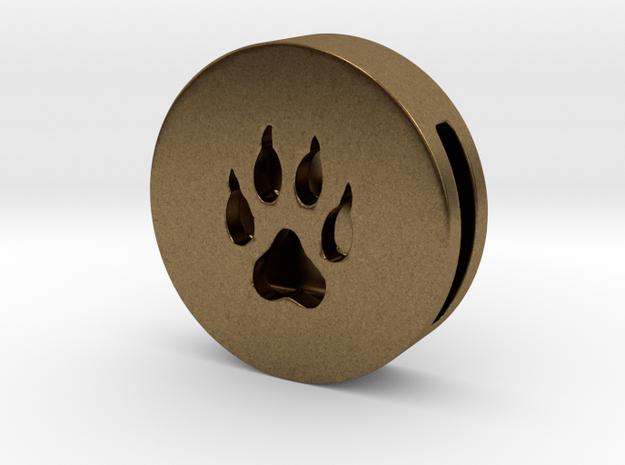Band Charm round - Wolf Paw print