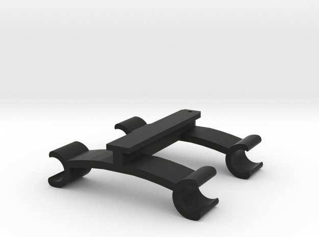 Walkera To 60mm Rail Adapter - V2 in Black Strong & Flexible